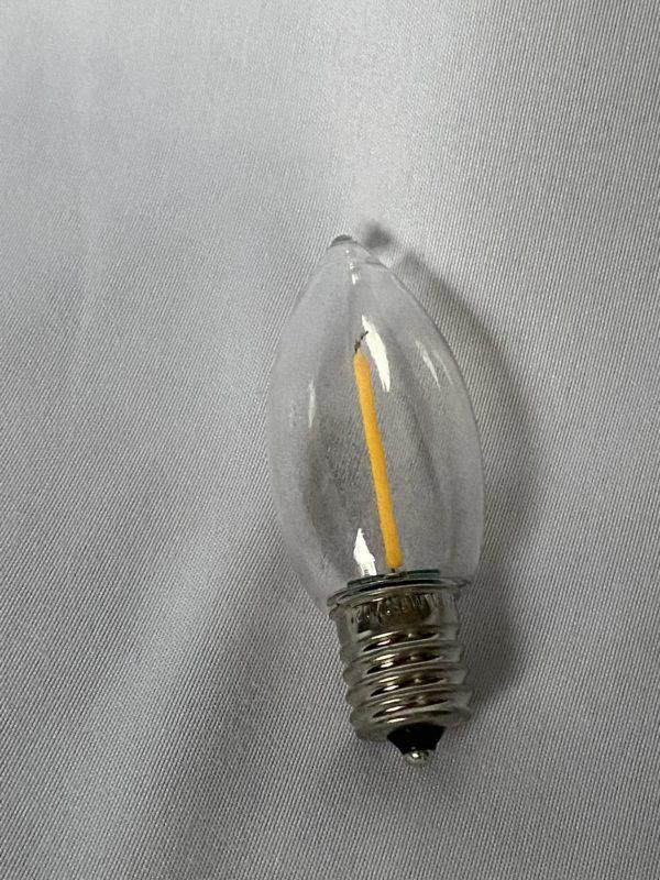 LED C-9 Clear Bulb